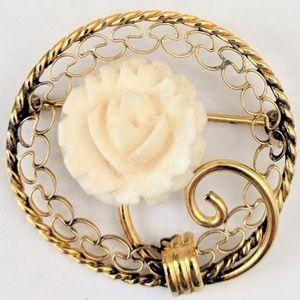 Vintage Carl Art Gold Filled Floral Brooch Pin